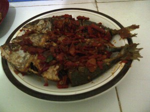 Ikan Kembung Balado Khas Padang