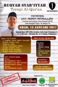 Jadwal Ruqyah Pekanbaru Januari 2017 - 2
