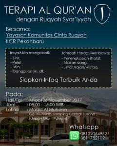 Jadwal Ruqyah Pekanbaru Januari 2017 - 1